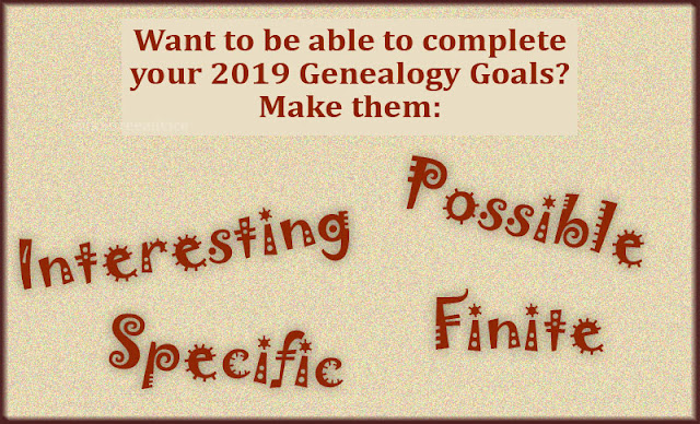 Set your 2019 genealogy goals with purpose for a better result.