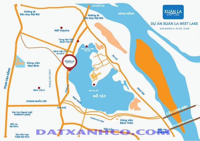 Vị trí Chung cư CT36 Xuân La