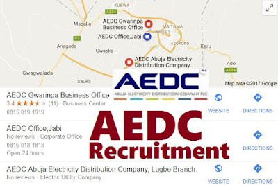 AEDC Recruitment 2017/18 - Apply to Abuja Electricity Distribution Company Recruitment