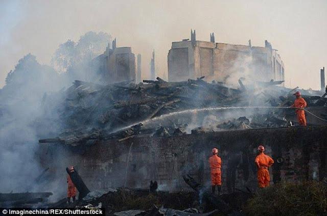 """إندلع حريق في برج """"لنجوان"""" الصيني"""