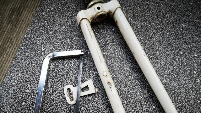 Federgabel Stahl Bike cleanen Metallsäge