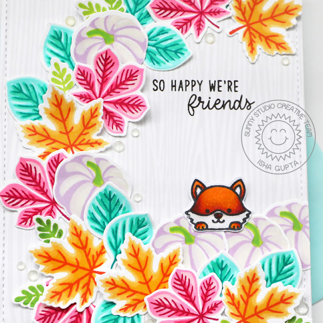 Sunny Studio Stamps: Crisp Autumn Fall Friends Fall Themed Card by Isha Gupta