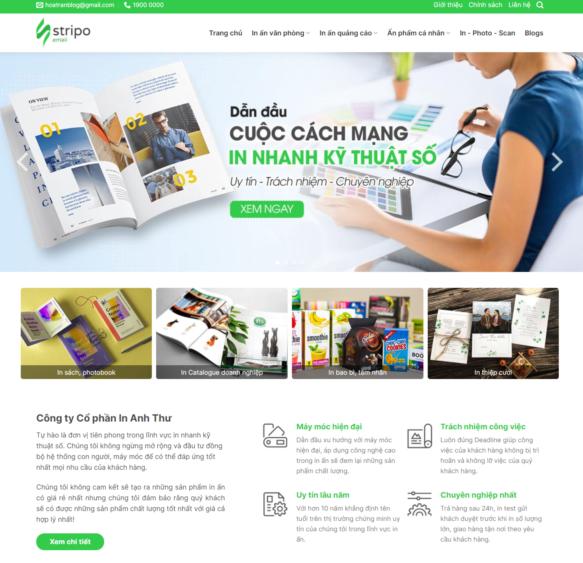 Template blogspot dịch vụ ngành in ấn
