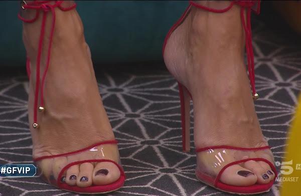 Elisabetta Gregoraci foto piedi scarpe primo piano Gfvip