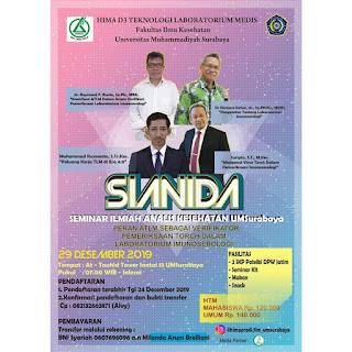 SIANIDA 2019 (Seminar Ilmiah Analis Kesehatan UM Surabaya)