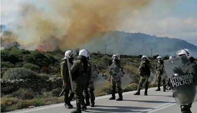 Δεκάδες τραυματίες από τις συγκρούσεις σε Λέσβο και Χίο