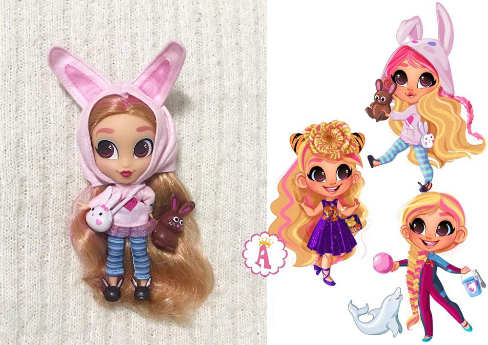Серия 4 Хэрдораблс игрушка Кэт с ушками кролика
