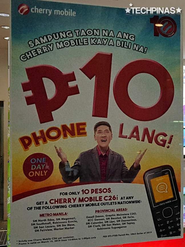 Cherry Mobile Ten Pesos Phone, Cherry Mobile C26i
