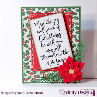 Stamp Set: Christmas Wishes Custom Dies: Peaceful Poinsettias, Pinecones & Pine Branches, Lavish Layers, Rectangles Paper Collection: Holly Jolly