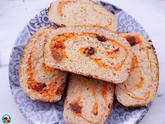 Pan brioche de yogur con zanahoria