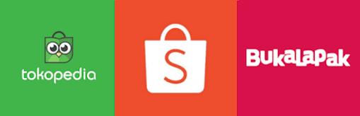 Aplikasi Tokopedia - Shopee - Bukalapak