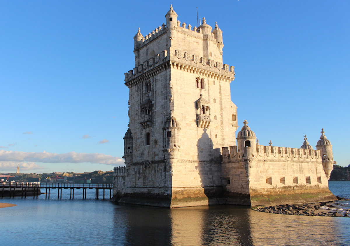 This is a new angle of the Belem Tower in Lisbon.
