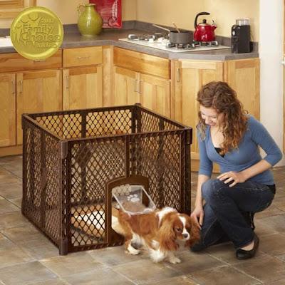 pet Enclosure with Lockable pet Door