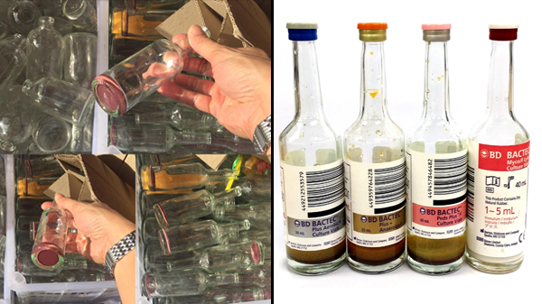 Giveaway bottles in Divisoria allegedly used for blood testing