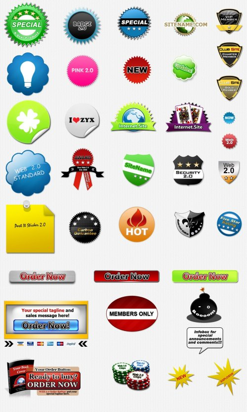 Free PSD graphic badges