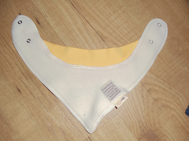 The back of a dribble bib,