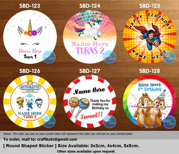 New birthday series sticker design template added