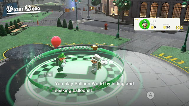 Super Mario Odyssey Luigi Balloon World