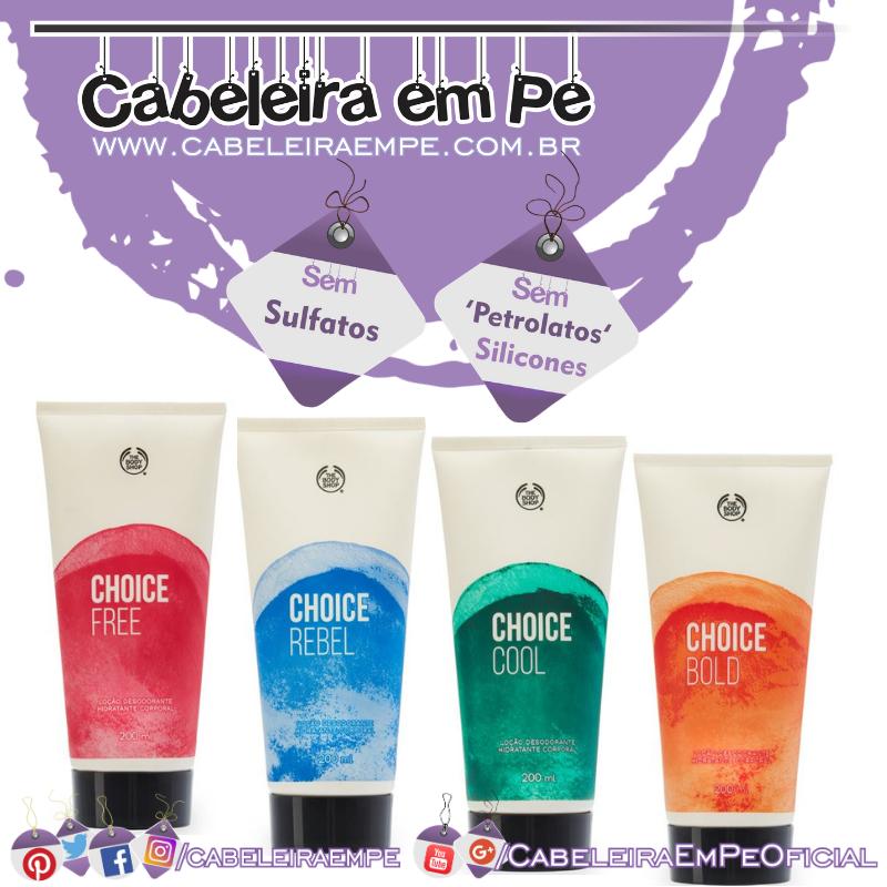 Hidratante Desodorante Corporal Choice - The Body Shop (Cool, Bold, Free e Rebel)