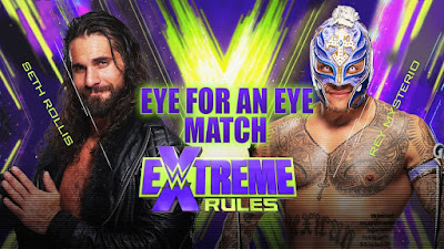 Extreme Rules Horror Show Mysterio Seth Rollins WWE