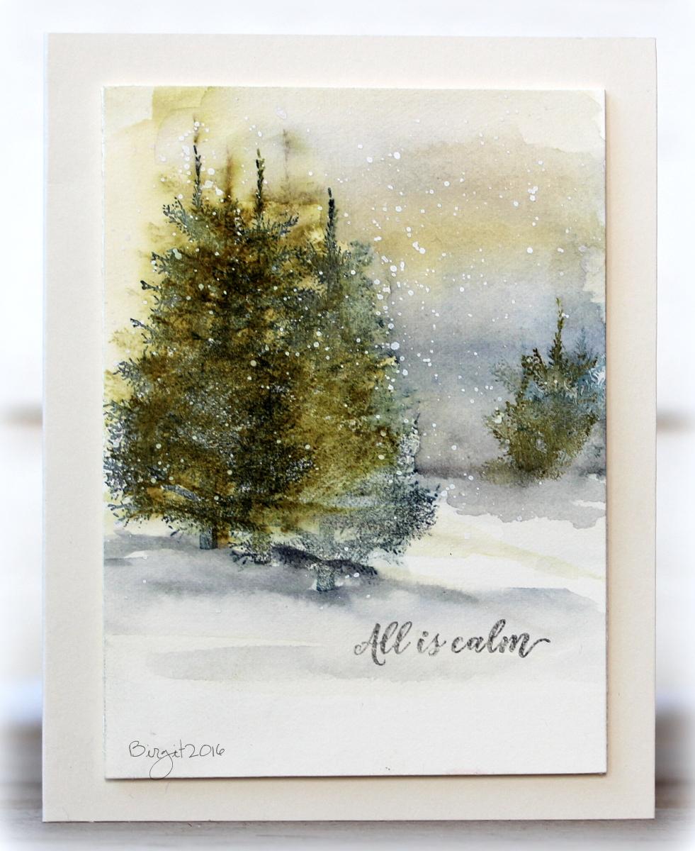 Акварелью новогодние открытки, поздравление февраля для