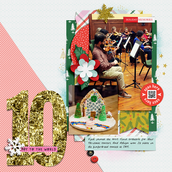 Digital Scrapbook Page Document Your December Day 10