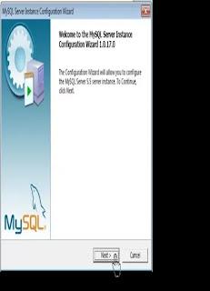 """<img src=""""https://1.bp.blogspot.com/-fdsYuvgAoWo/XJ3yL_NKcSI/AAAAAAAAAiQ/LZJEiL8MFcM5WrTusIkkJb-Fu4WD7VQfQCLcBGAs/s320/MySQL%2BServer%2BInstance%2BConfiguration%2BWizard-%2BLALU%2Bclick%2BNEXT.webp"""" alt=""""aplikasi SIA BUMDes, Klik tanda """"Launch the MySQL Instance Configuration Wizard"""", kemudian klik Next""""/>"""