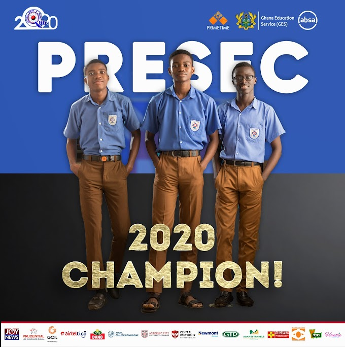 #NSMQ2020: PRESEC Wins Its 6th NSMQ Trophy At NSMQ2020
