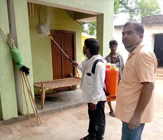 राजेपुर में कराया गया सेनेटाइजेशन कार्य | #NayaSaberaNetwork