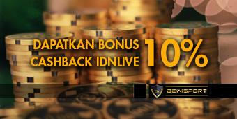 Bonus Cashback IDNLIVE