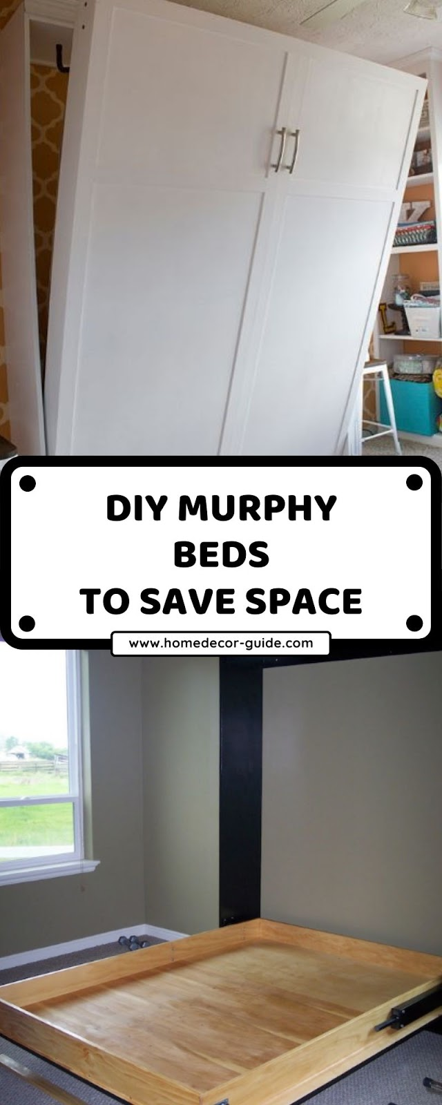 DIY MURPHY BEDS TO SAVE SPACE