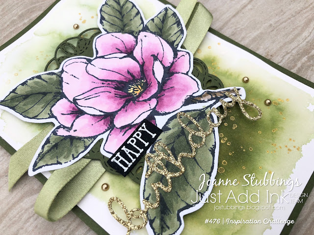 Jo's Stamping Spot - Just Add Ink Challenge #476 using Good Morning Magnolia and Well Said bundles by Stampin' Up!