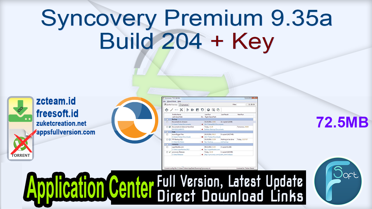 Syncovery Premium 9.35a Build 204 + Key_ ZcTeam.id