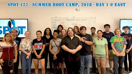 group photo of SPOT 127 Summer Boot Camp team