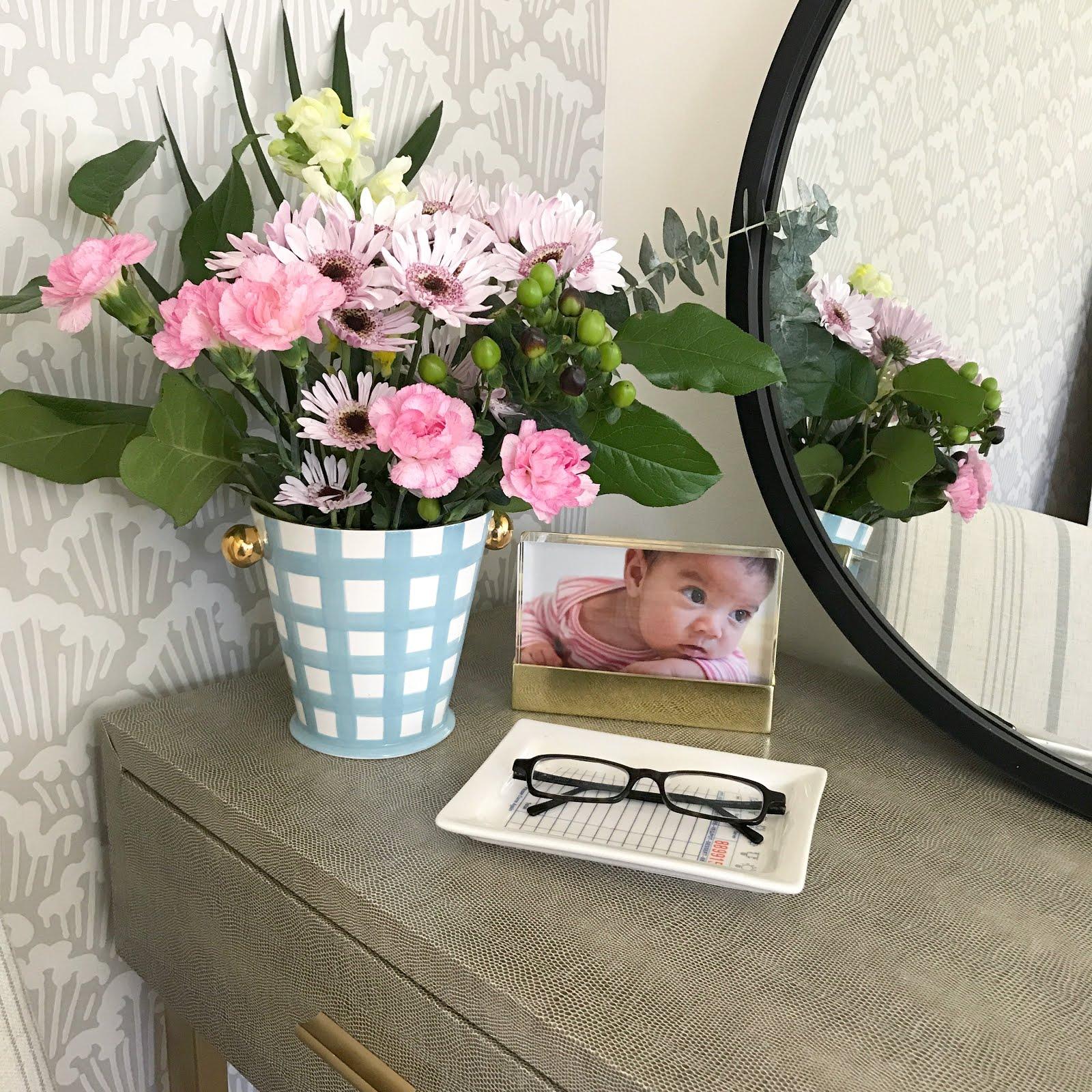 jill rosenwald vase | faux shagreen desk