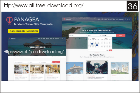 Panagea v12 travel and tours listings template free html panagea is a very beautifull clean and modern free html template html5 travel site template suitable for corporate companiesagencies that provide services maxwellsz