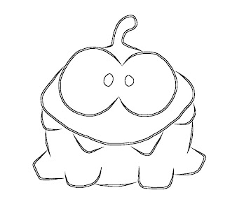 Cut the rope coloring pages ~ #3 Cut The Rope Coloring Page