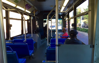 interior of a MATA bus