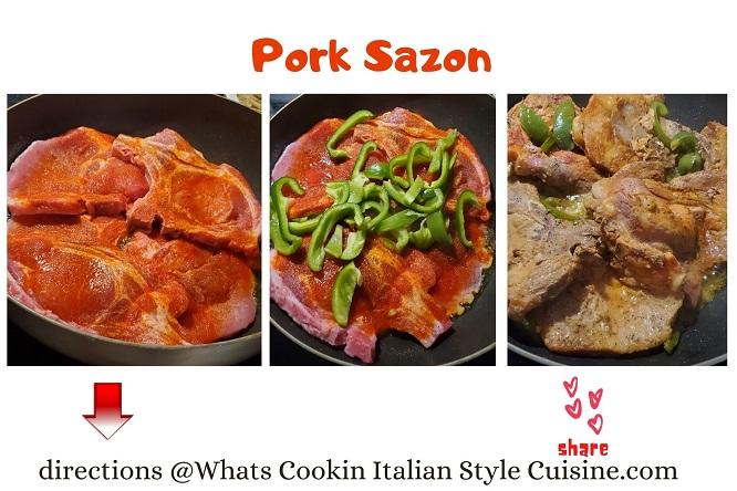 this is a latin pork using sazon