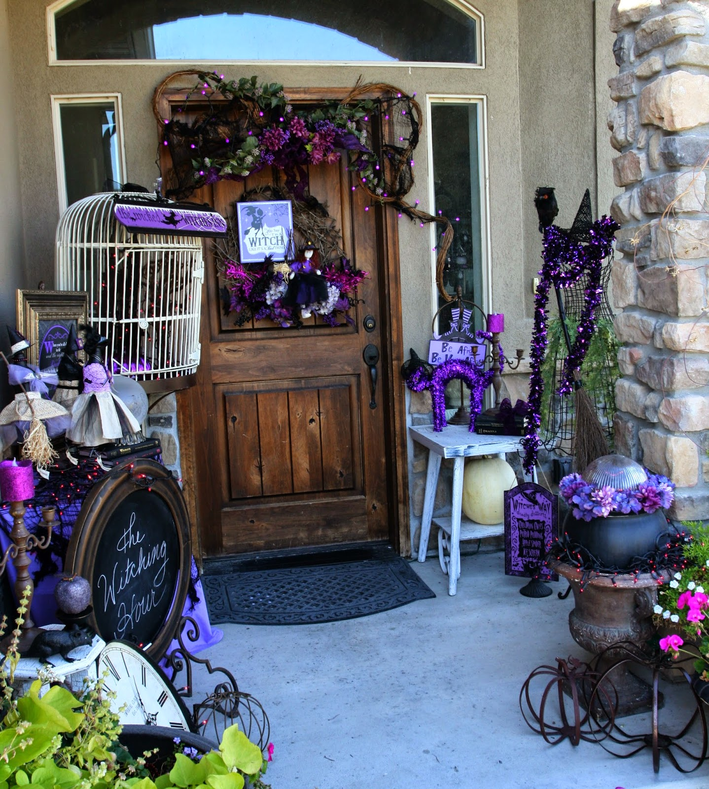 The Witch Themed Party: Adventures Of A BusyBee: Witch-Themed Halloween Porch