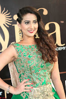 Manjusha in Beautiful Sleeveless Green Anarkali dress at IIFA Utsavam Awards 91.JPG