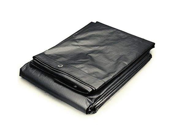 DEWAN SONS Tarpaulin 100 % Virgin UV Treated 250 GSM Waterproof Plastic Sheet (36 x 40 ft, Yellow)