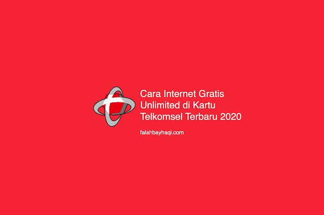 Cara Internet Gratis Unlimited di Kartu Telkomsel Terbaru 2020