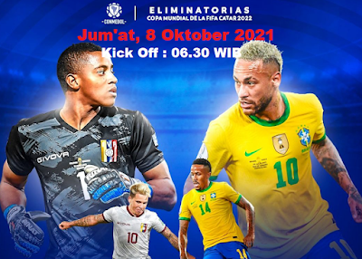 Jadwal dan Link Live Streaming 2022 World Cup Qualifications :  Venezuela vs Brazil, 8 Oktober 2021 06.30 WIB