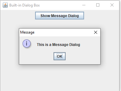 Dialog Box in Java with Examples