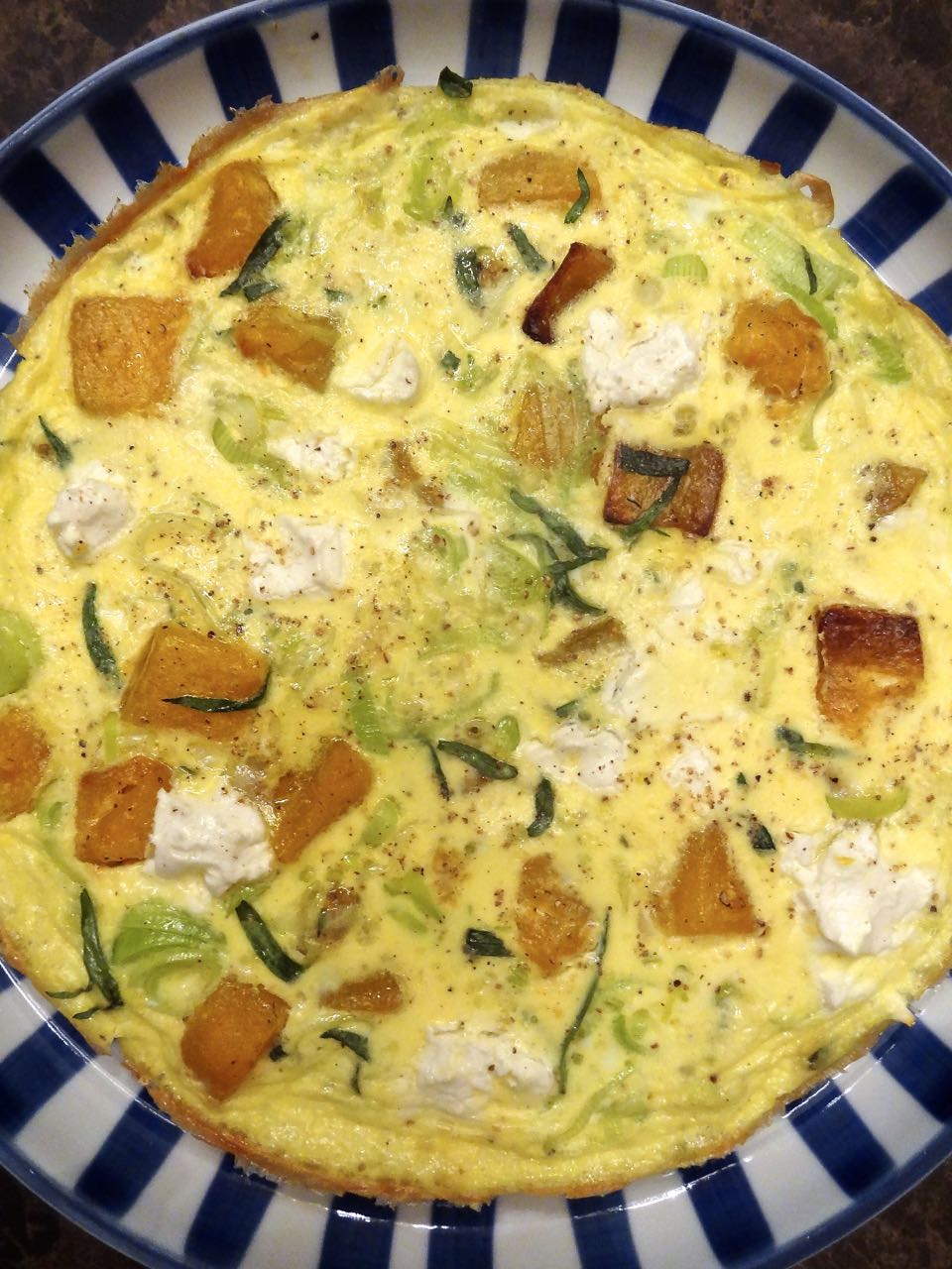 Scrumpdillyicious: Leek, Squash & Goat Cheese Frittata with Tarragon