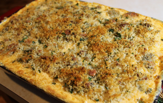 A Crunchy Blue Cheese and Panko Topping