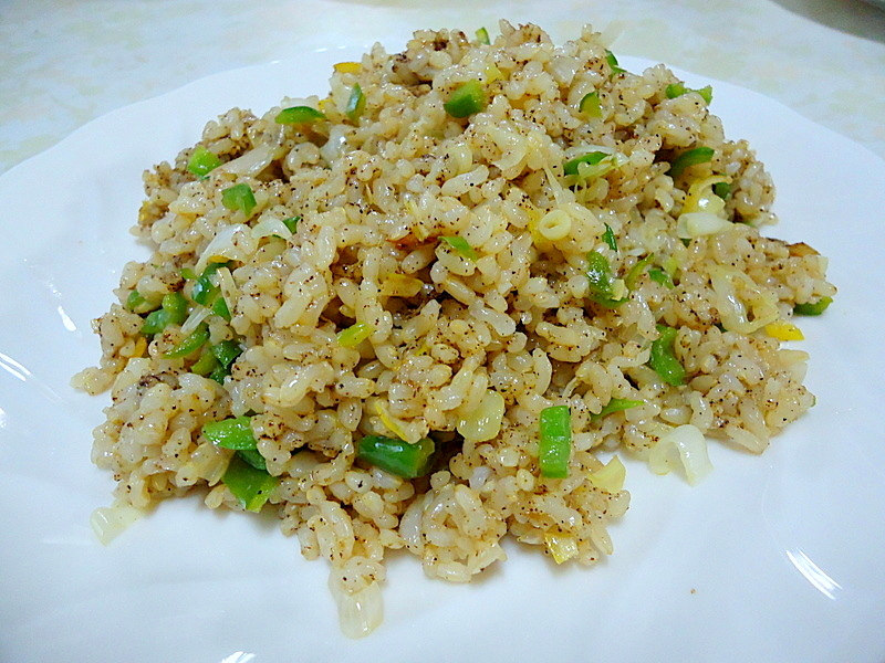 Spicy fried rice quick fried brown rice with leek and spicy pepper add 1 tsp somi shantan dx paste adjust the seasoning ccuart Image collections