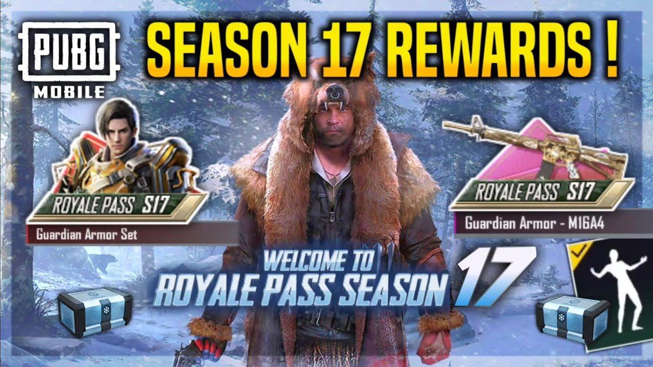 PUBG Mobile Season 17 Royal Pass Rewards