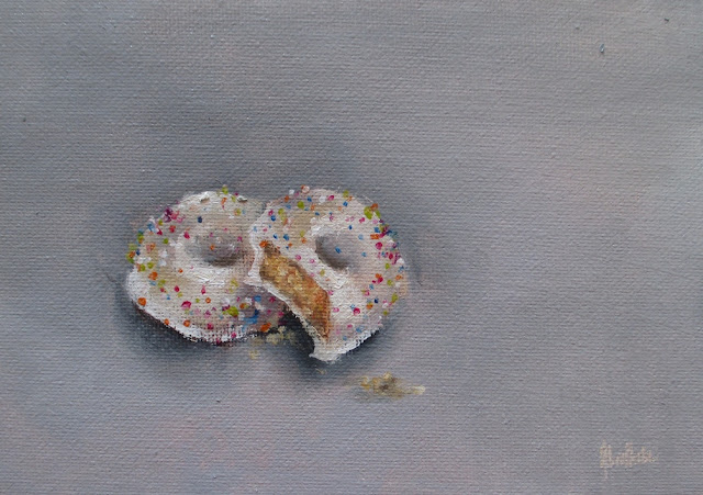 Heidi Shedlock, Daily painting, art, postcard paintings, bakers biscuits